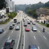 マレーシアのクアラルンプールの道路