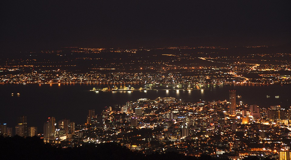 ペナン・ヒルからの夜景