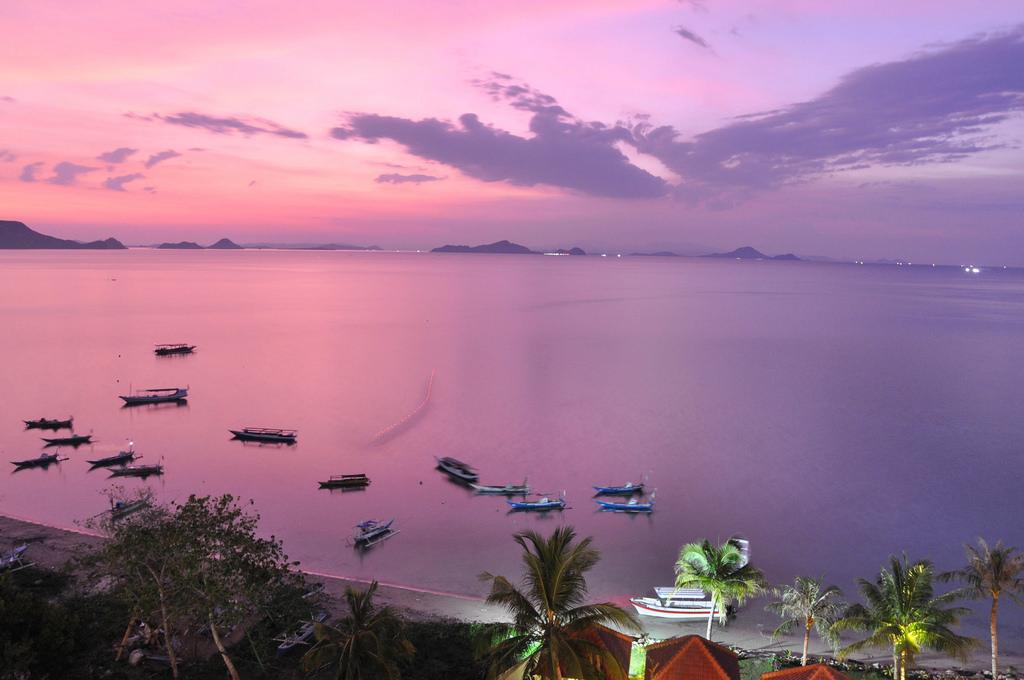 ラブアン島の夕日