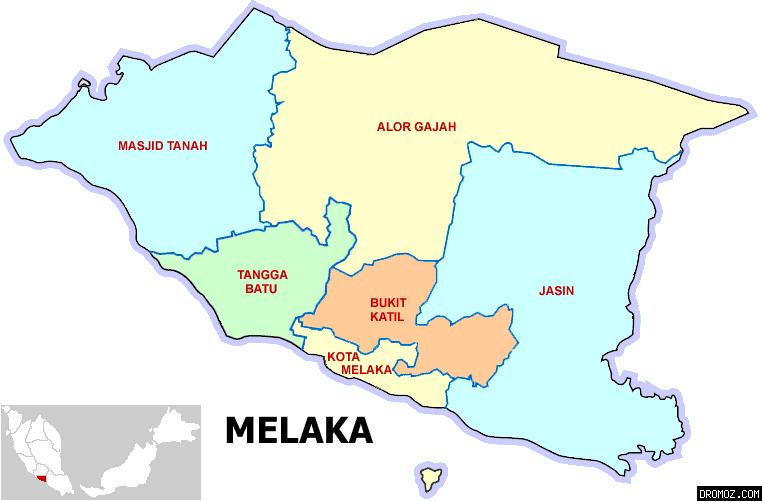 マラッカ州の各都市