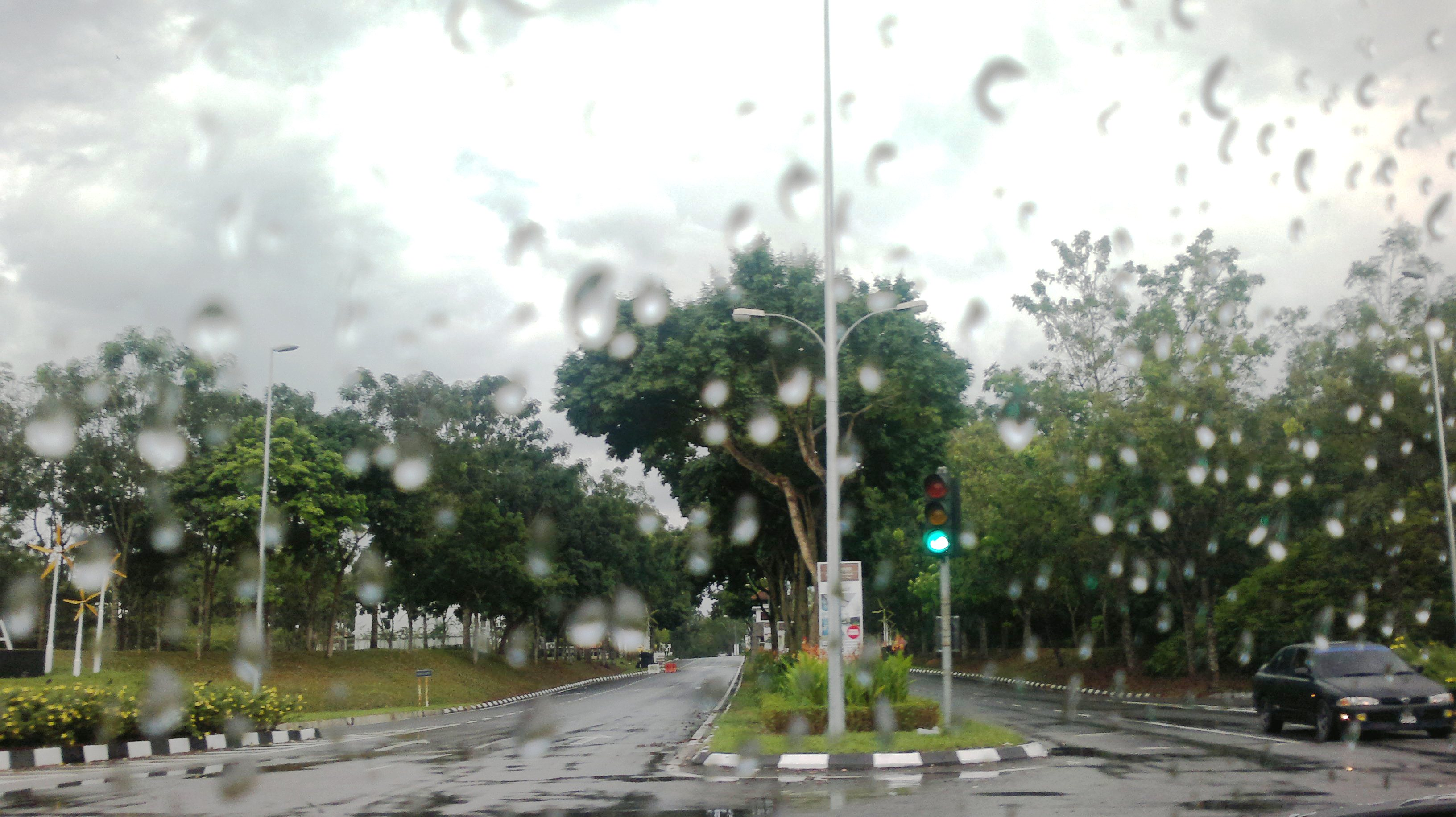 マレーシアの大雨の様子