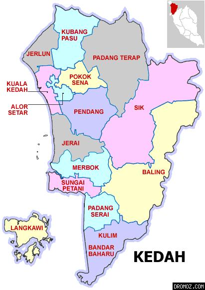 ケダ州の各都市