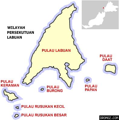 ラブアン島地図