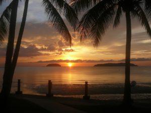 マレーシアの夕日