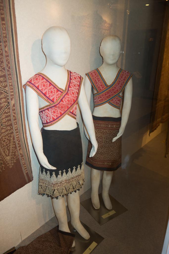 マレーシアの博物館のマネキン