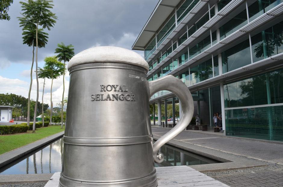 マレーシアのピューター製品を製造しているローヤルスランゴール社