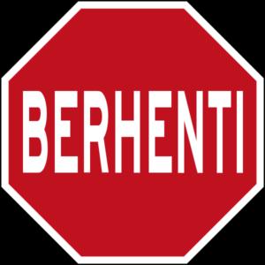 マレーシア止まれの標識