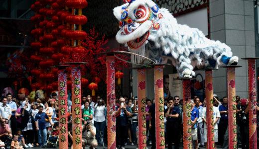マレーシアでも中国旧正月の風物詩といえば「獅子舞」