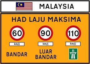 マレーシアで見かける重要度の高い道路標識