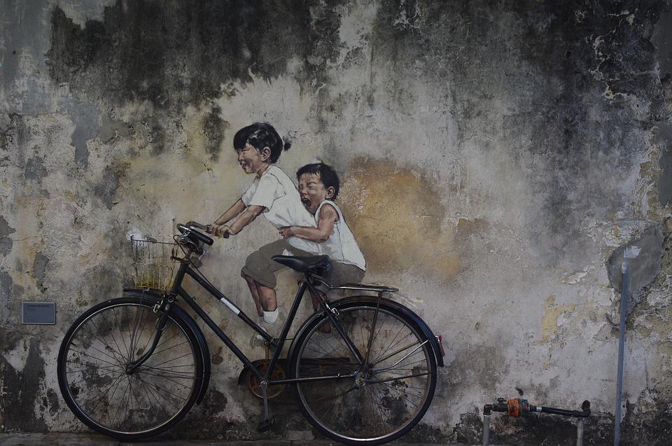 ペナンで見かけたストリートアート