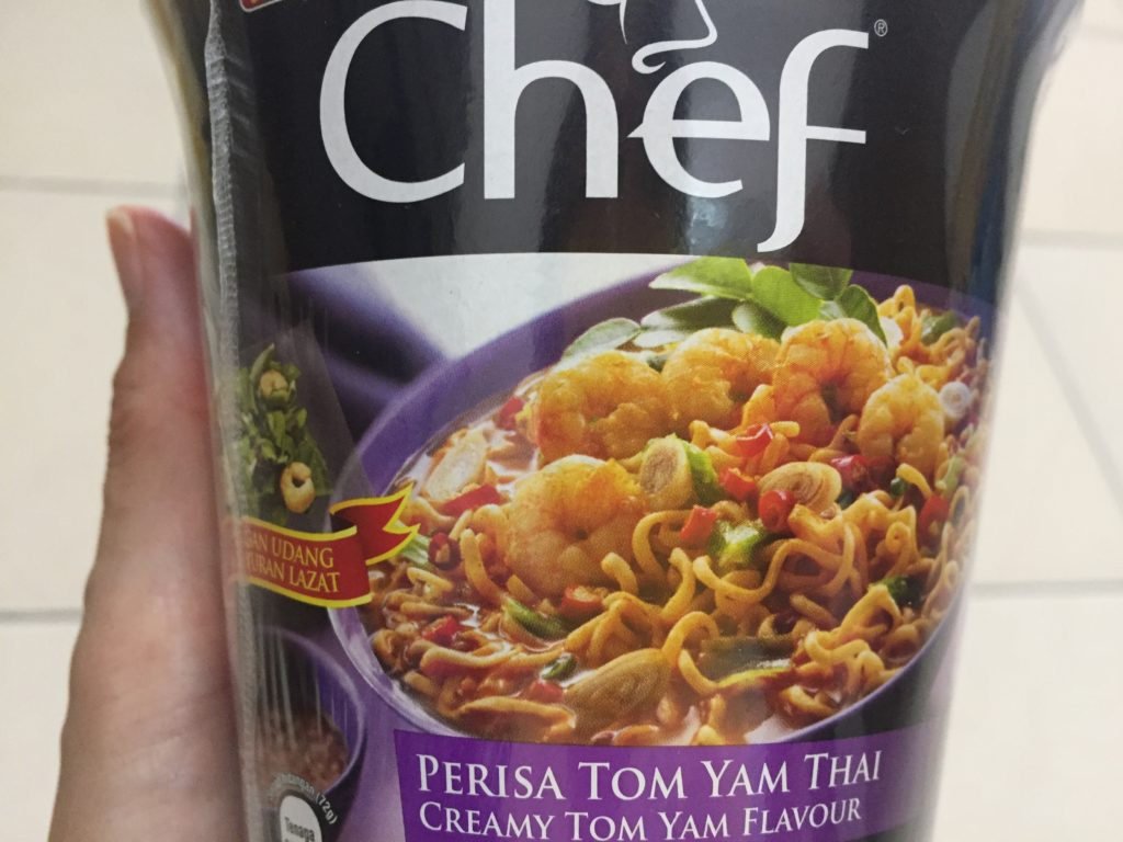 マレーシアのトムヤム味カップヌードル