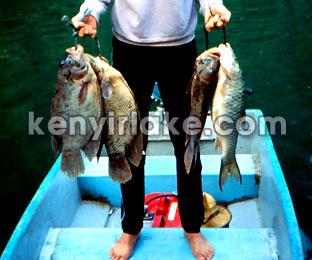 ケニー湖での釣り
