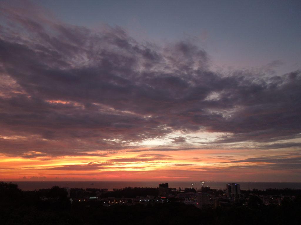 サラワク州でみた夕焼け