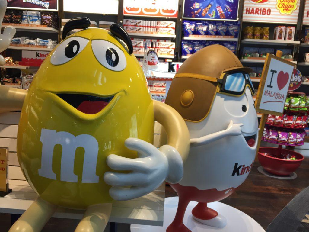 マレーシアクアラルンプール国際空港のお土産屋さんのマスコットキャラクター