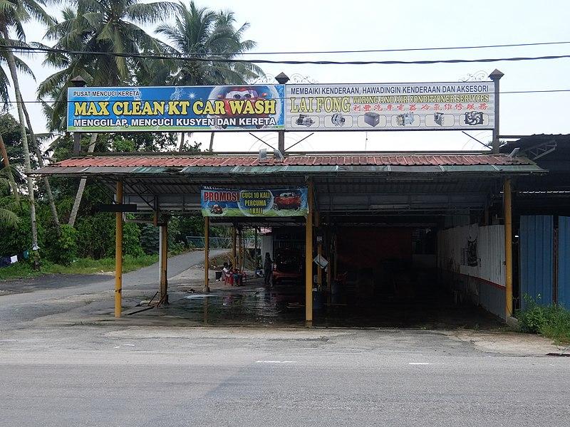 マレーシアの洗車屋さん