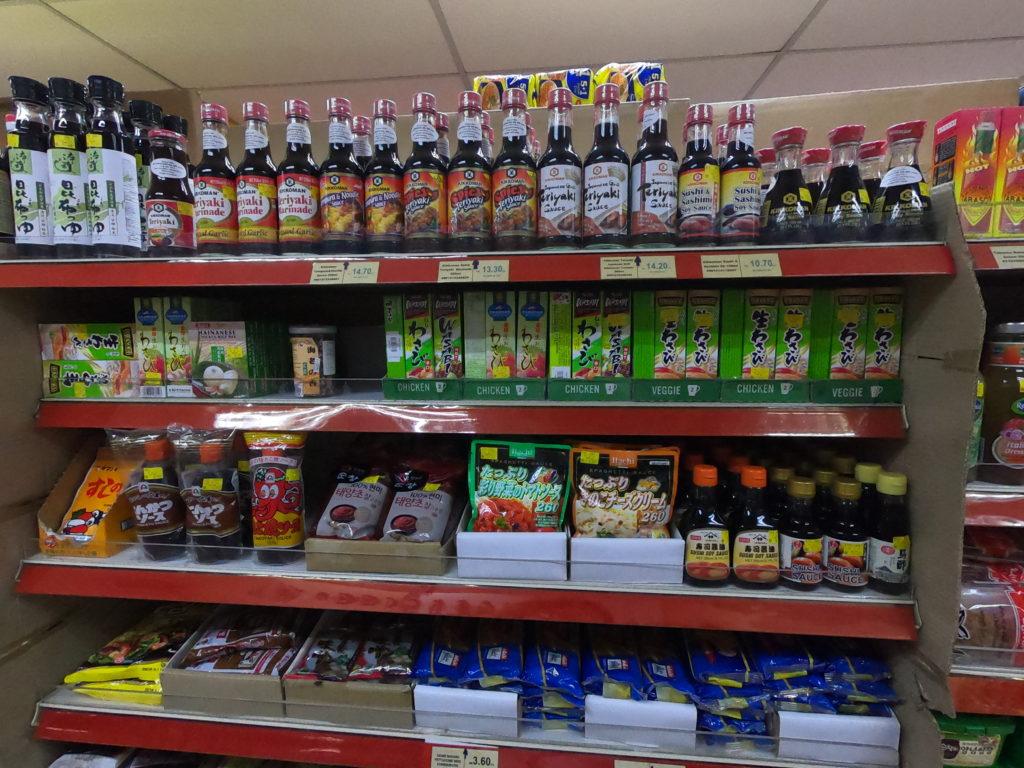 マレーシアのスーパーの日本食コーナー