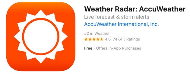 マレーシアで役立つ天気予報アプリ