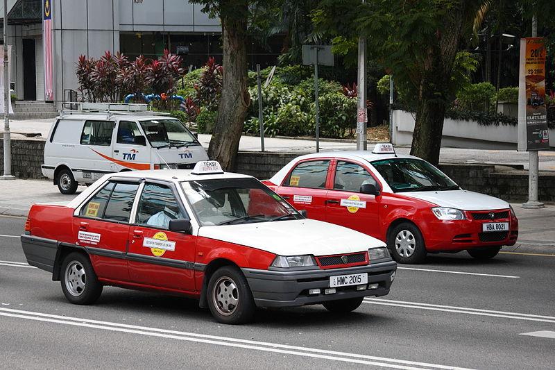 マレーシアのタクシー