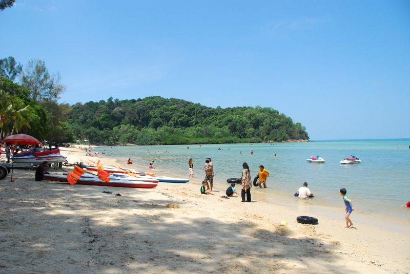 マレーシアポートディクソンのビーチ